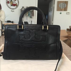 Tory Burch Black Leather Jessica Satchel